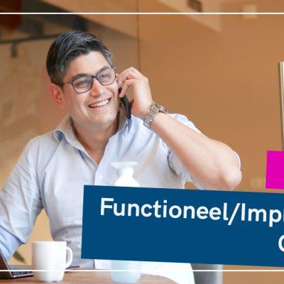 Vacature implementatie en functioneel consultant